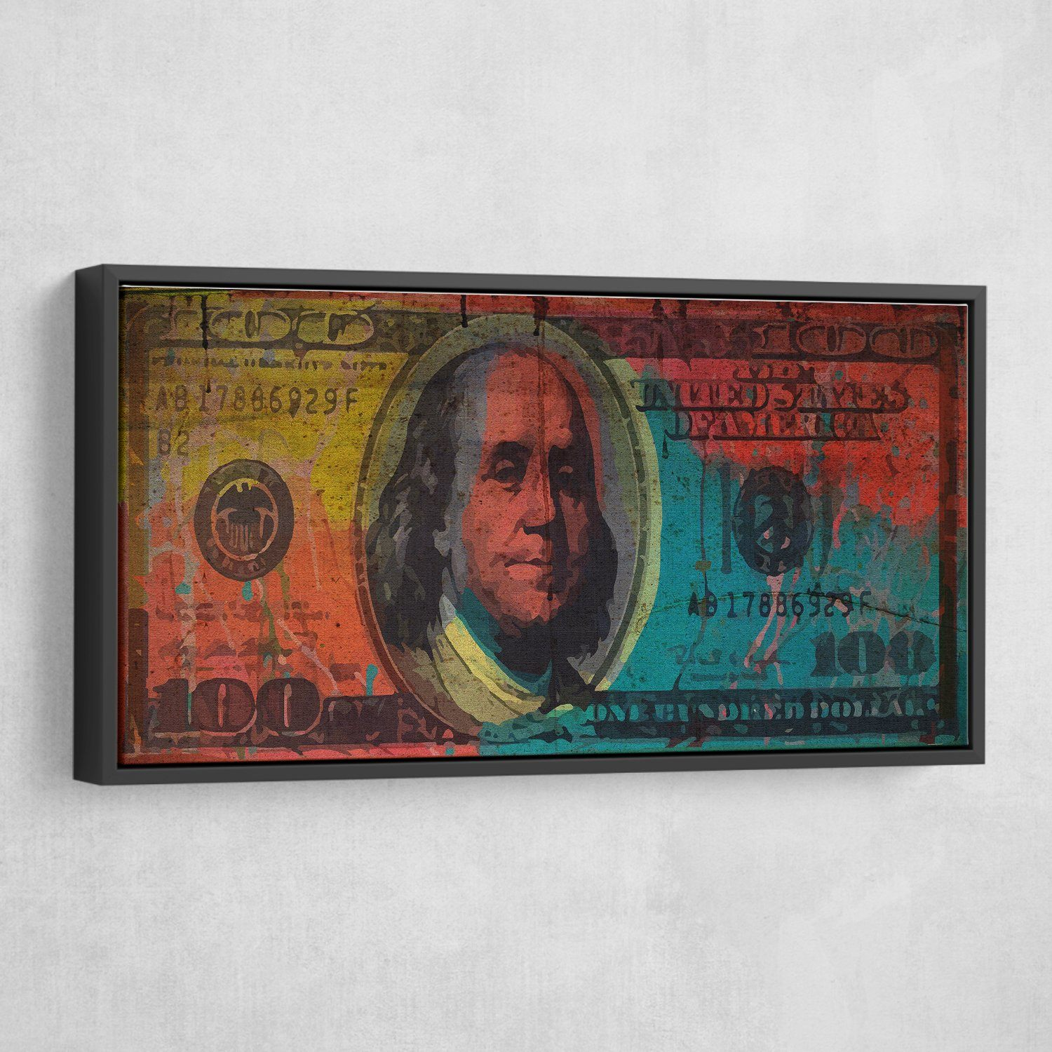 Big Benjamin 100 Dollar Bill canvas Art