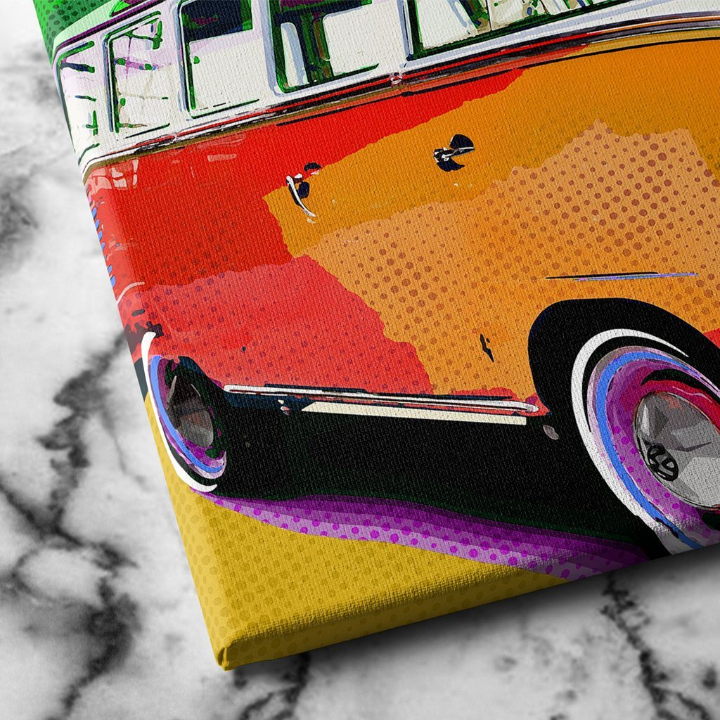 Hippie Wagon Canvas Art