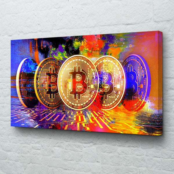 bitcoin canvas art