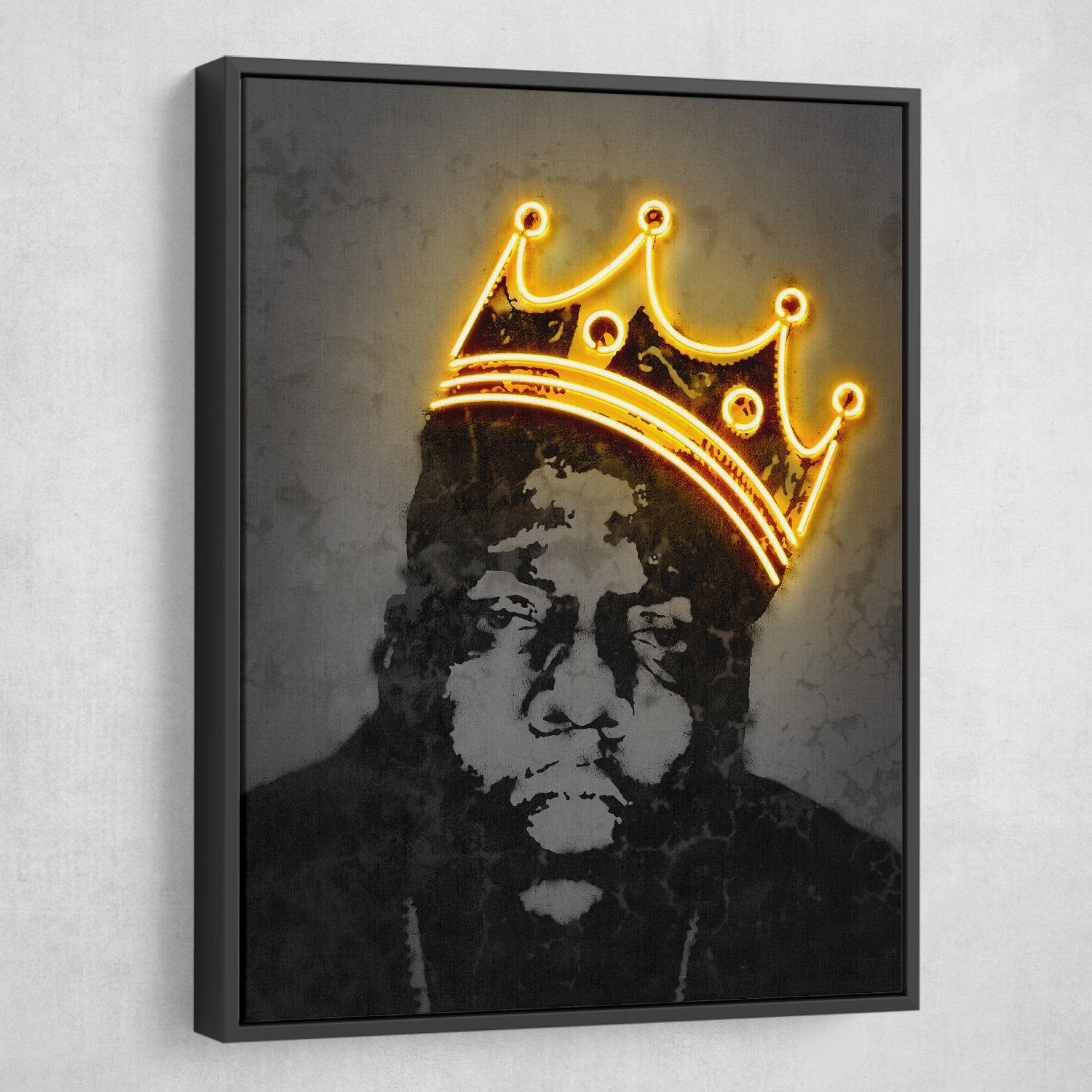 Biggie Neon Crown Wall Art