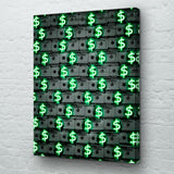 Neon Money Canvas Art