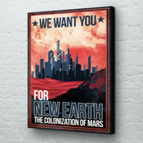 Mars futuristic planet wall art