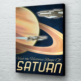 Saturn futuristic planet wall art