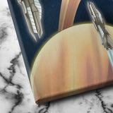 Saturn futuristic planet canvas art