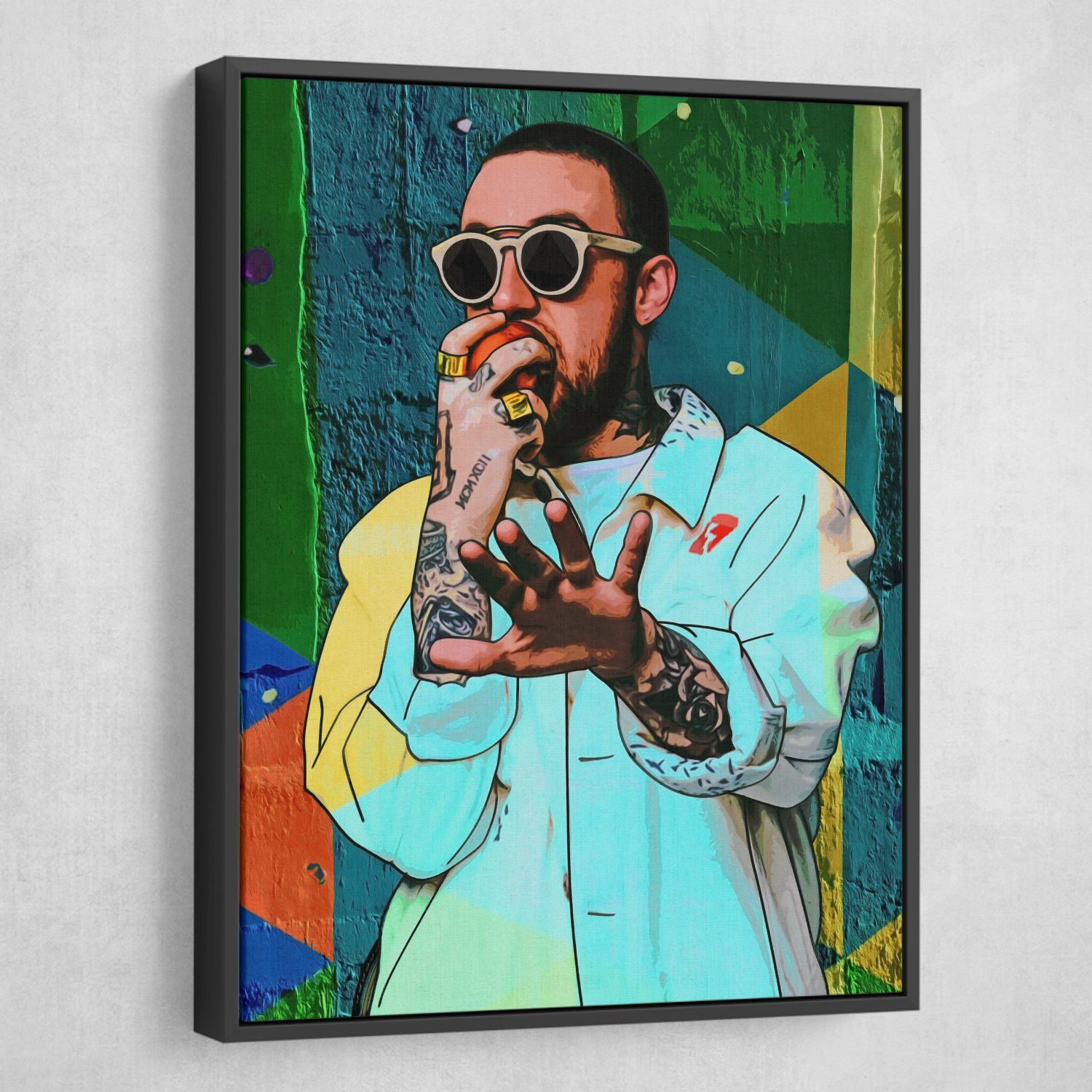 """Mac Miller Live from Space poster wall art home decor photo print 24/""""x24/"""" inches"""