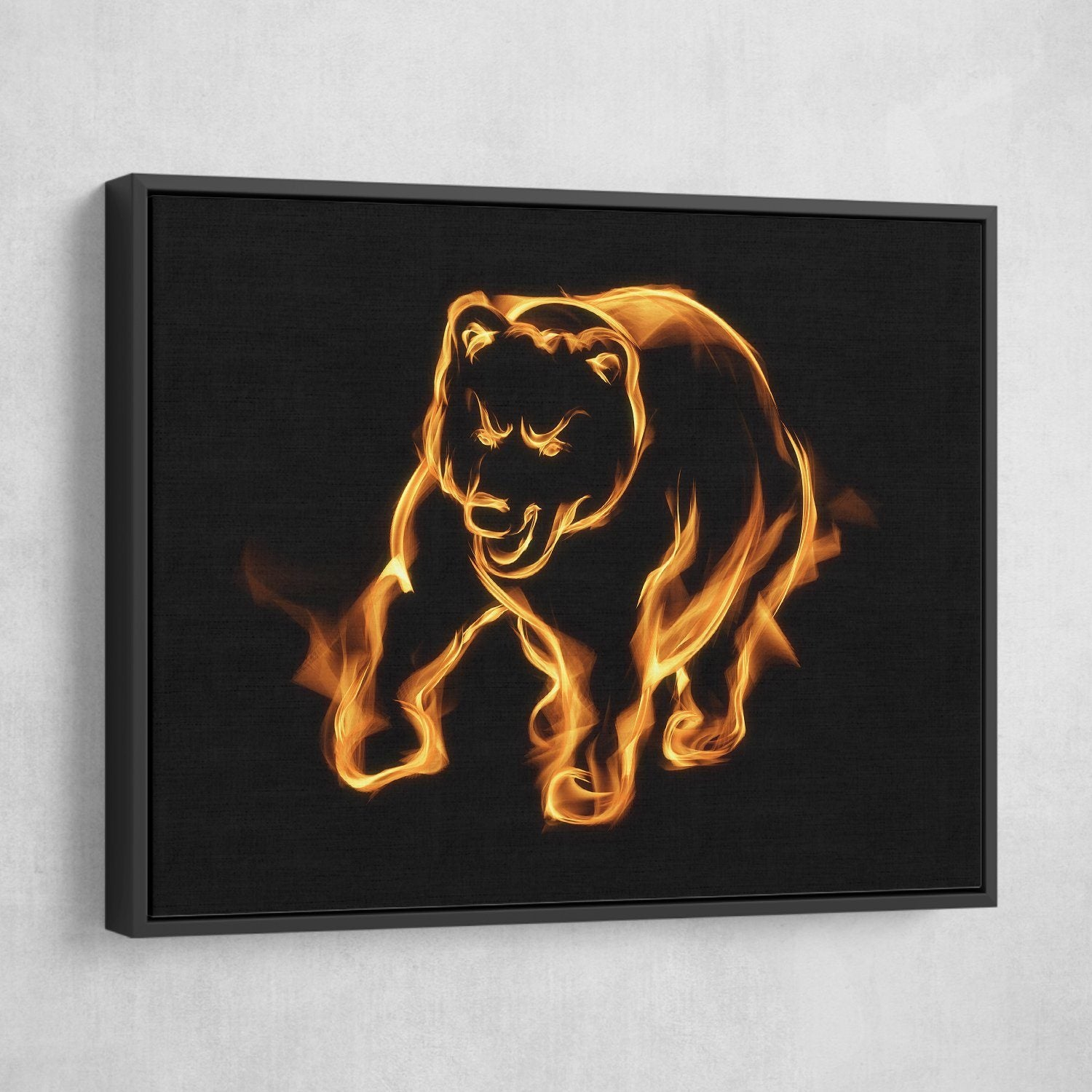 charging bear wall art