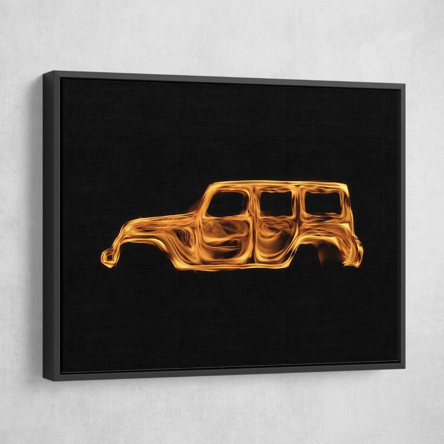 wrangler flame wall art