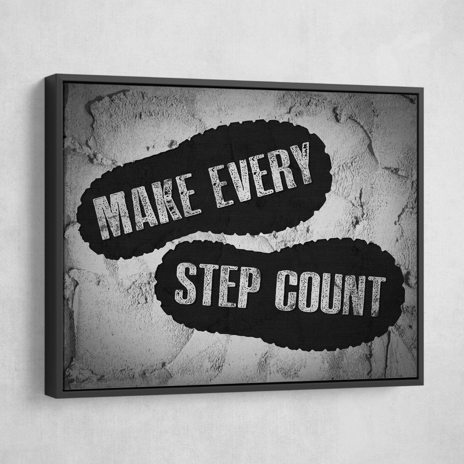 make every step count wall art