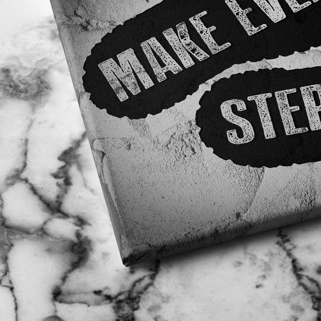 make every step count canvas art