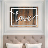 love bedroom wall art