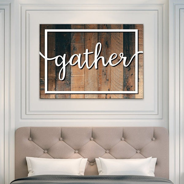 gather bedroom wallart