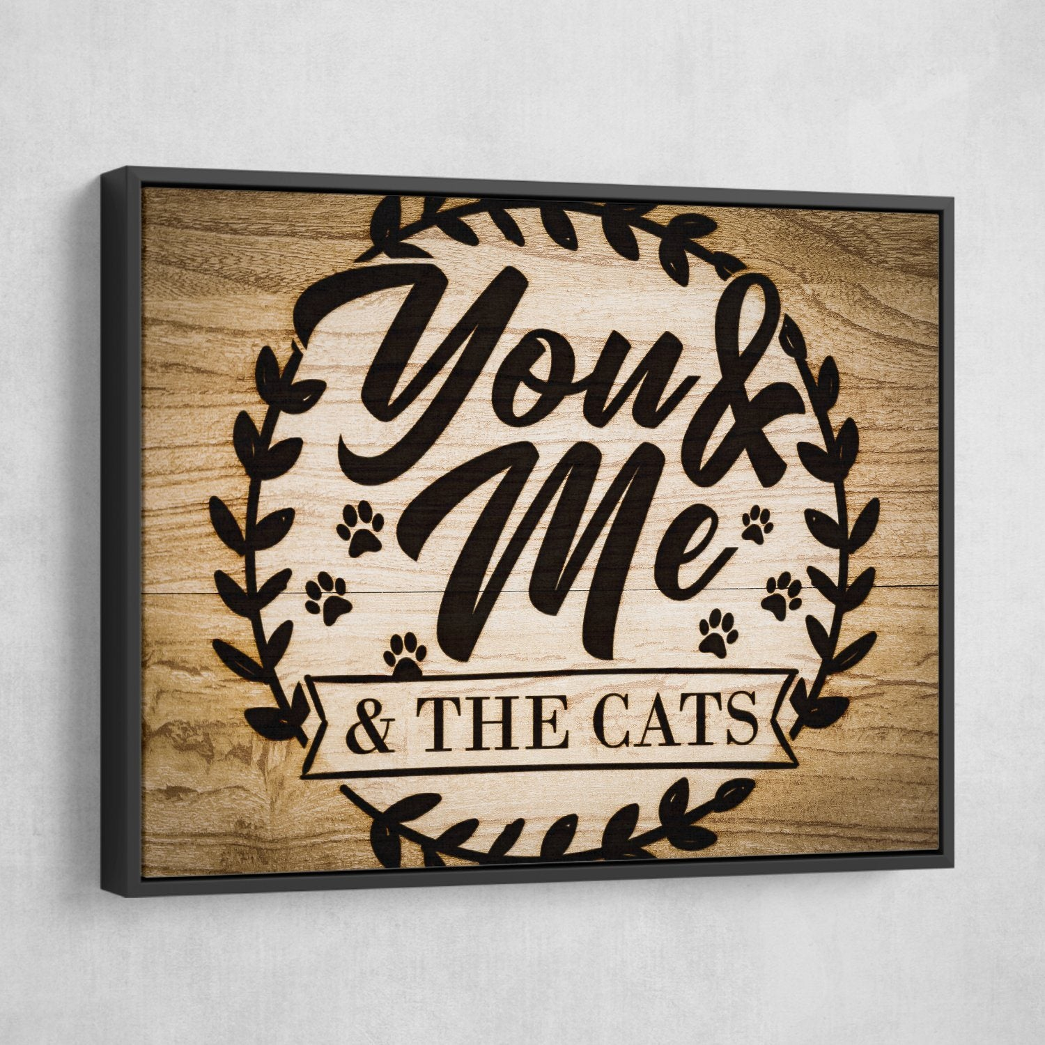 you me and the cats wall art