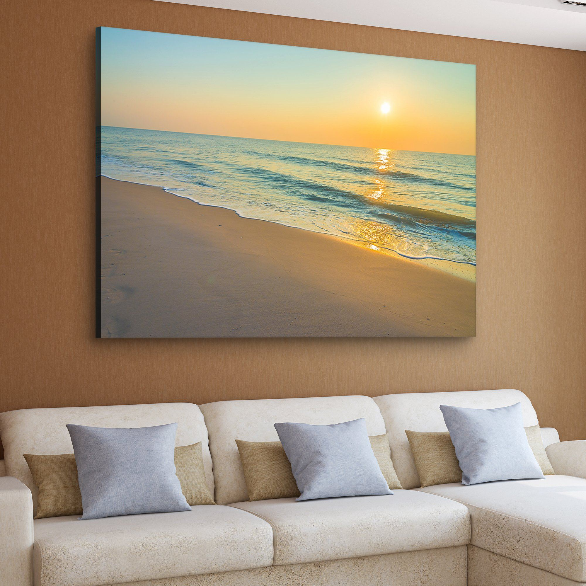 Sunset by the Beach home art