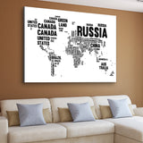 word cloud world map art