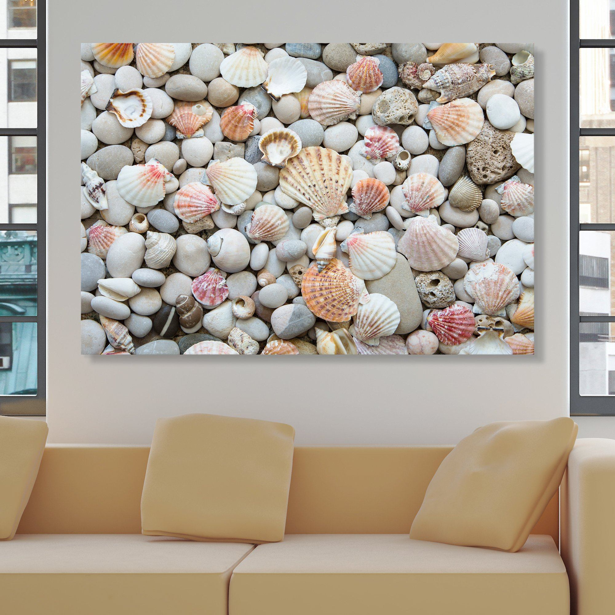 Seashells by the Seashore wall art