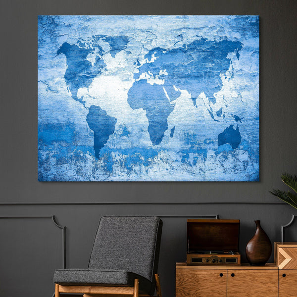 blue world wall art