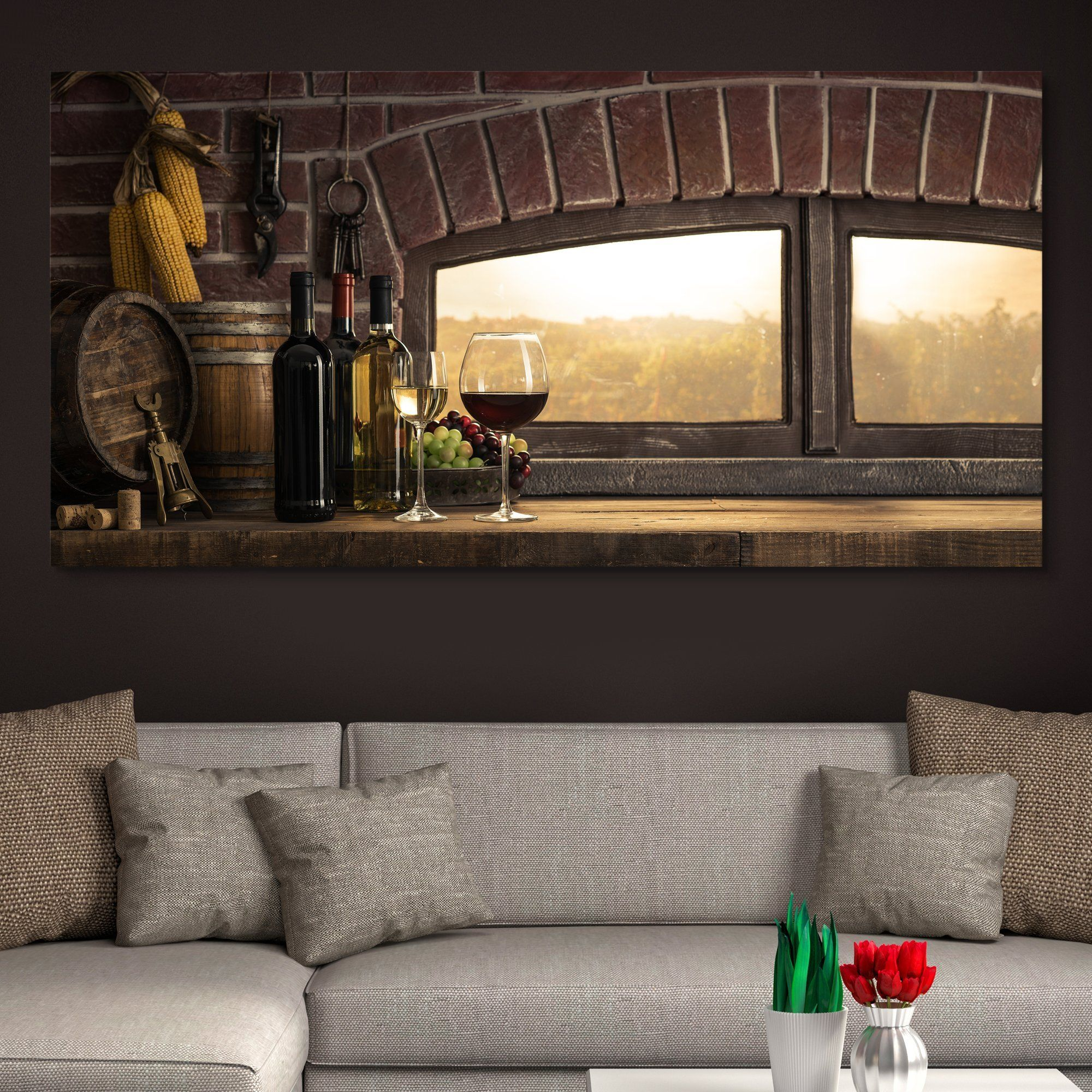 Panoramic Countryside Wine Cellar wall art
