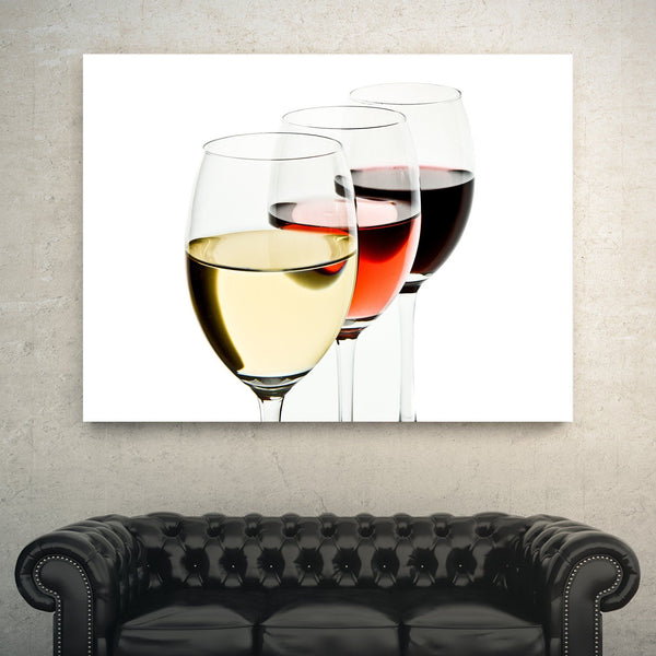 White, Rose, Red Wine wall art