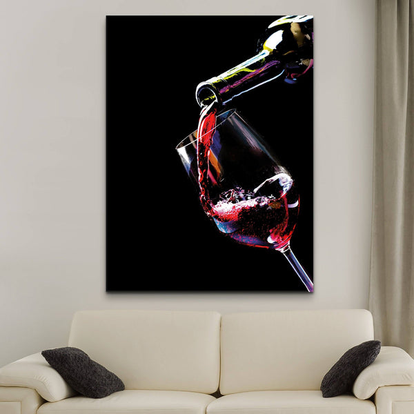 Red Wine Pouring wall art