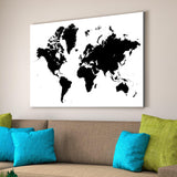 minimalist world map home decor