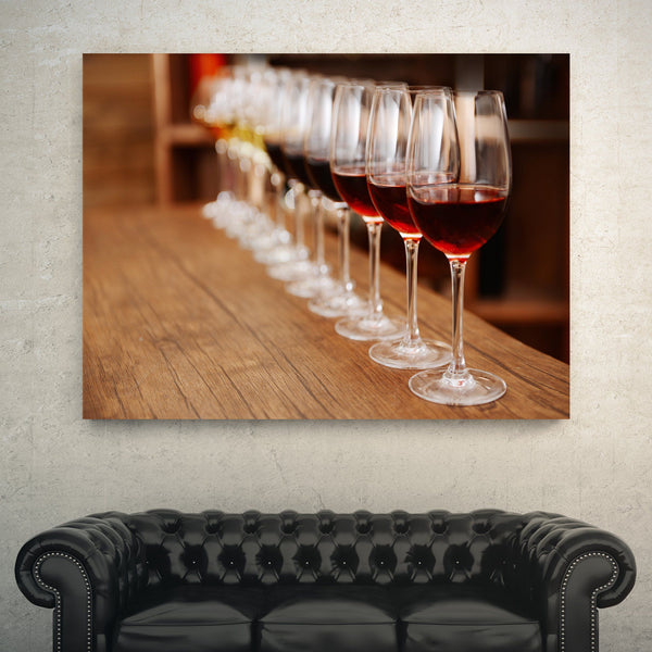 Wine in a Row wall art