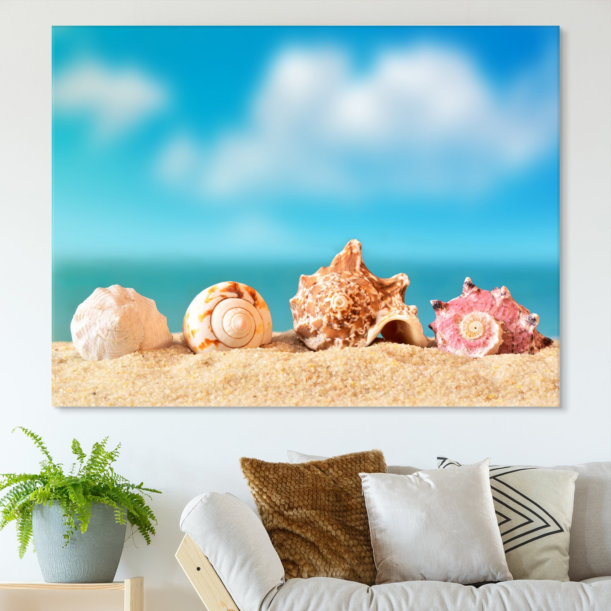 Seashells wall art