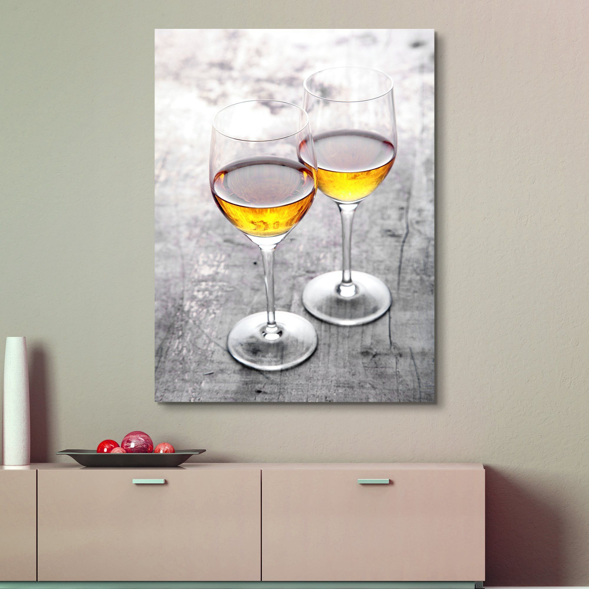 cheers wine wall art