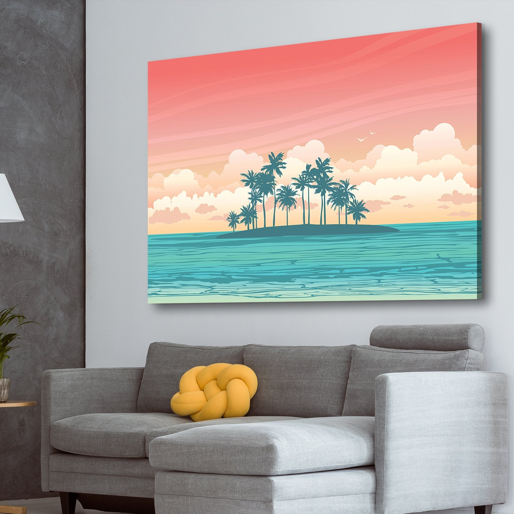 Summer tropical island art