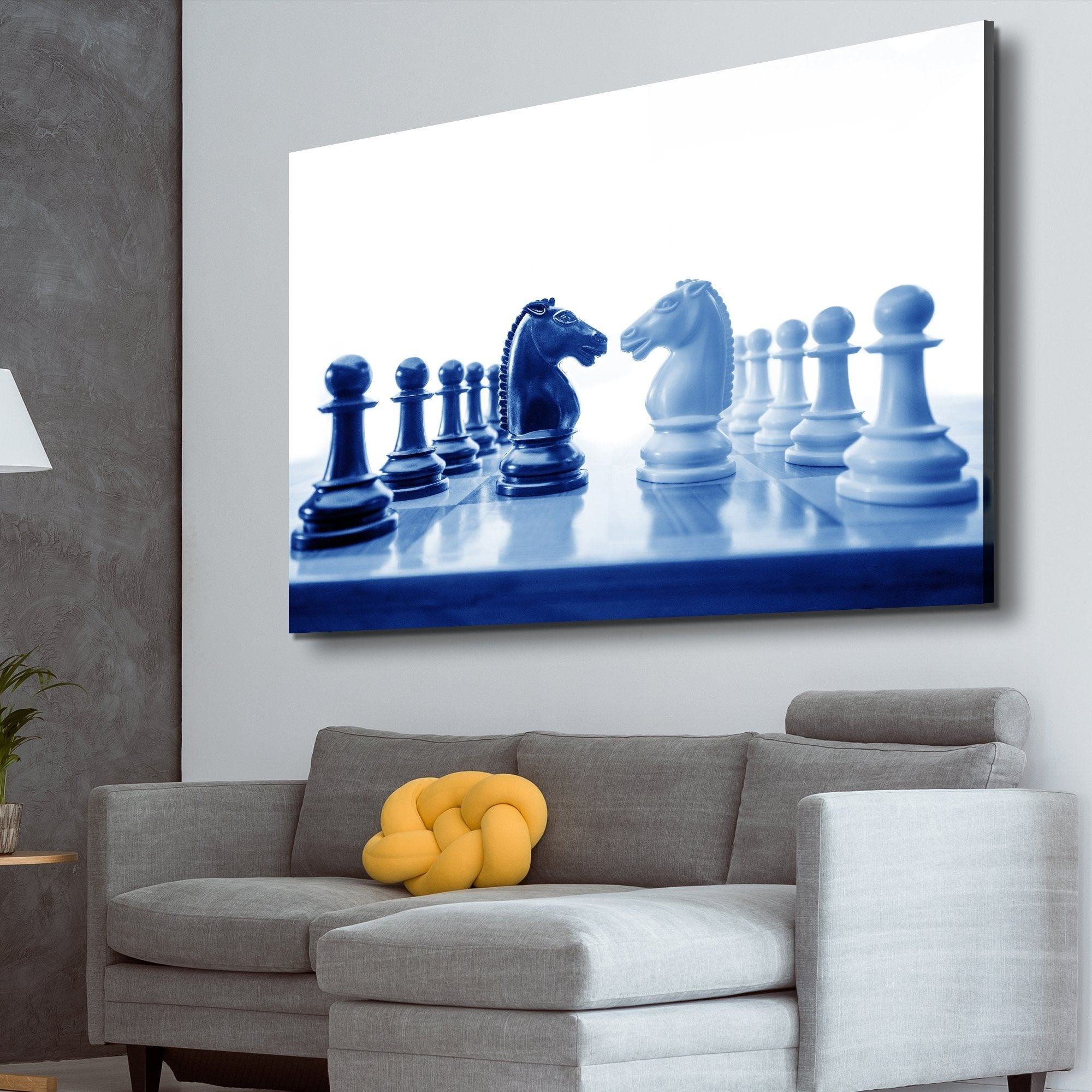 Chess game wall art