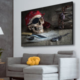 pirate skull art