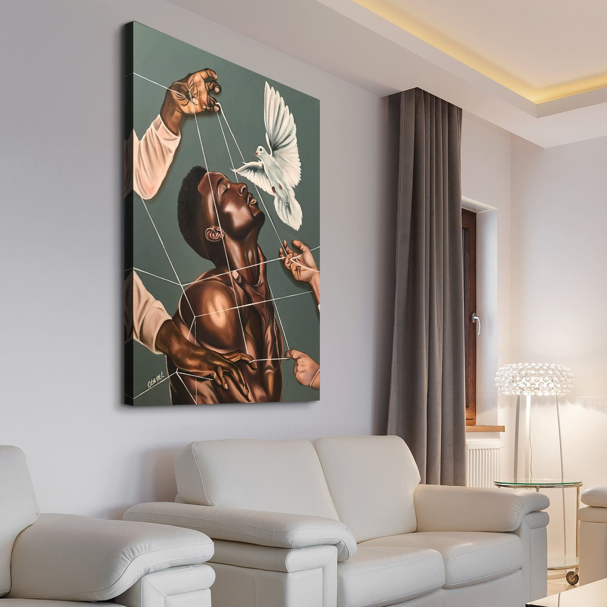 Stina Aleah - Spiritual Warfare living room wall art