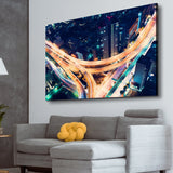Road Night Lights living room wall art
