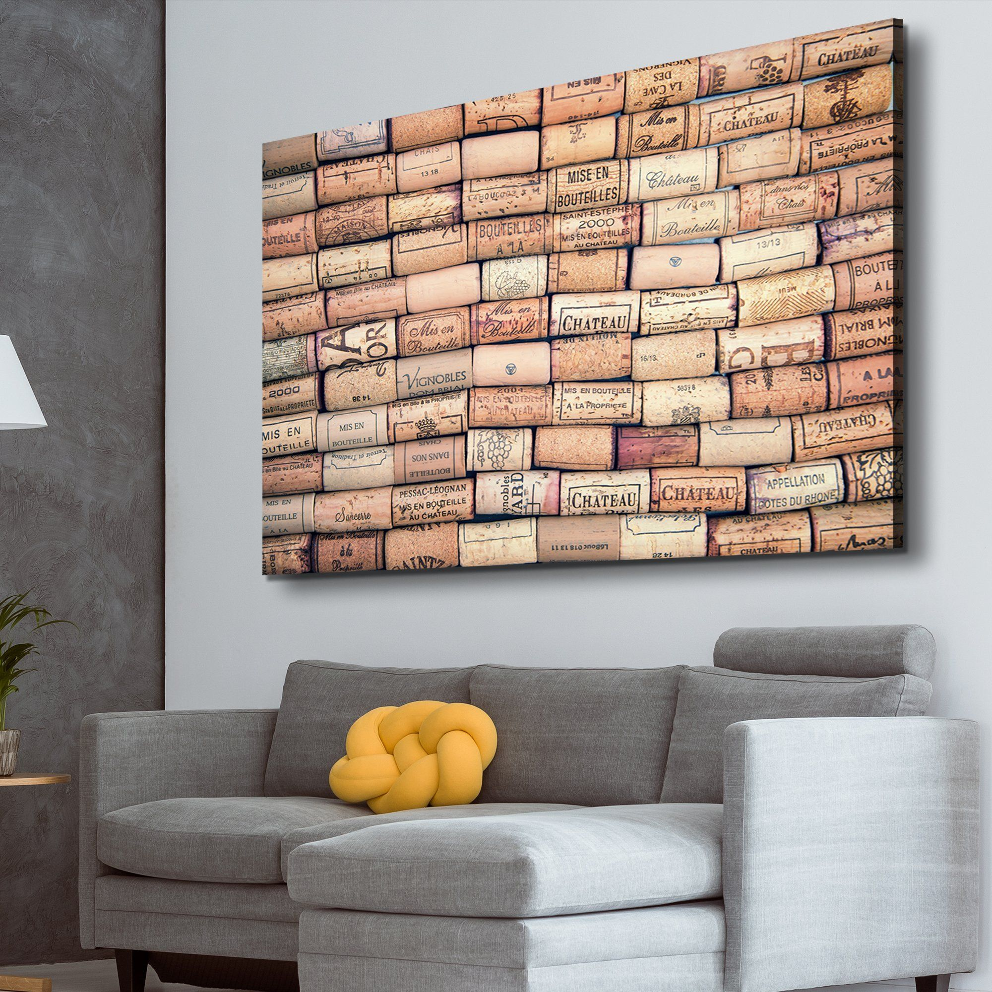 antique wine cork wall art
