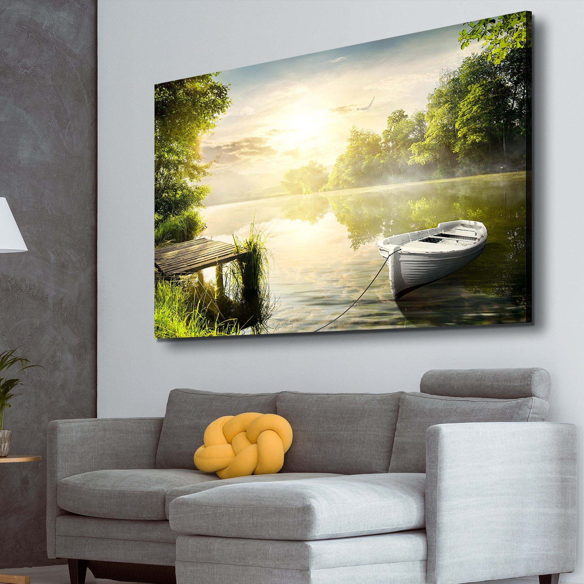 Along the Riverbanks living room wall art