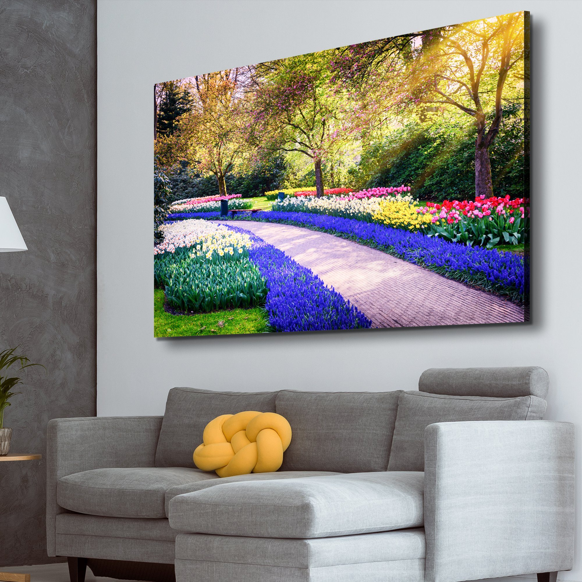 flower garden path wall art
