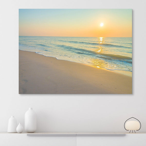 Nearly Sunset by the Beach wall art