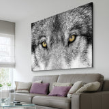 Timber Wolf eyes wall art