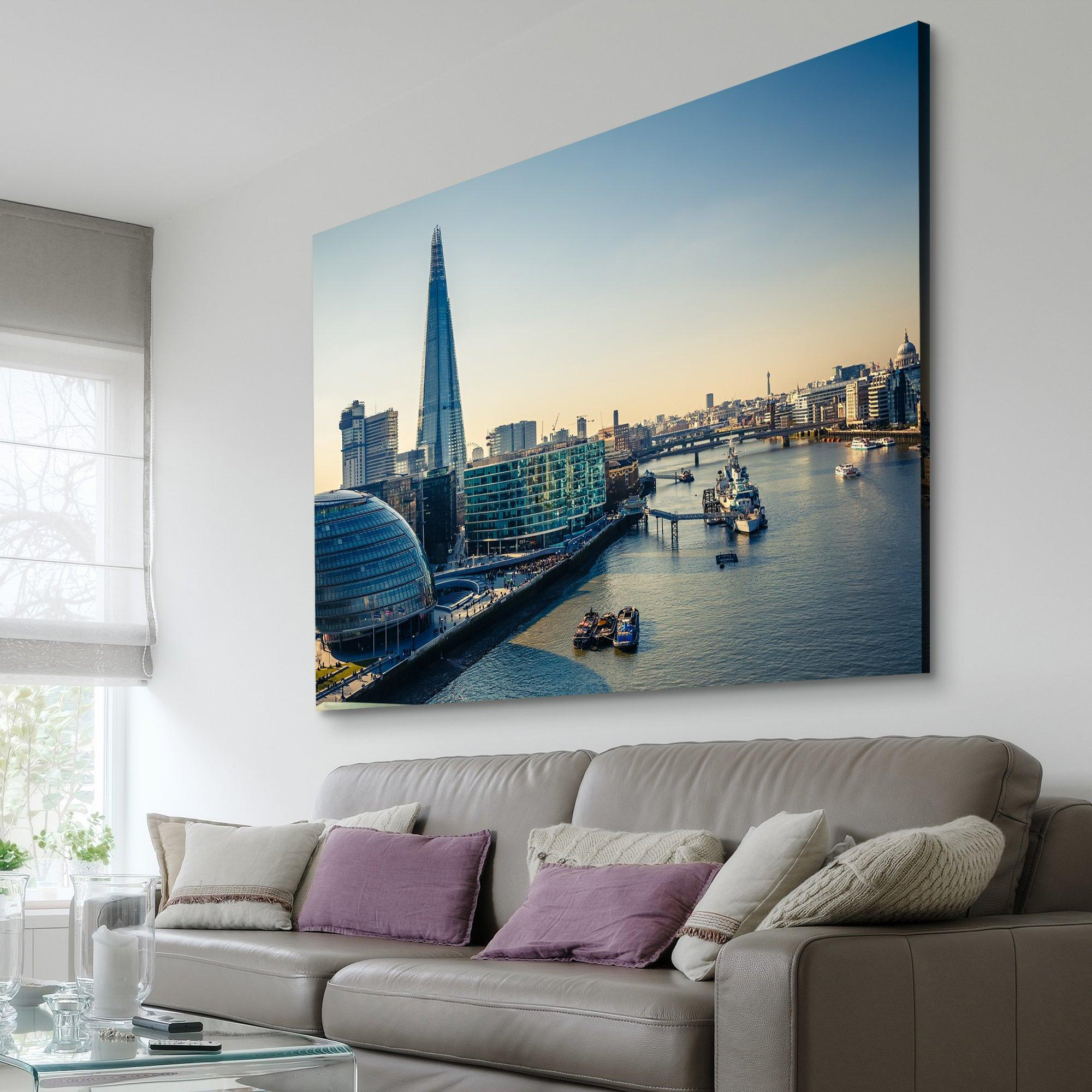 Thames and London City living room wall art