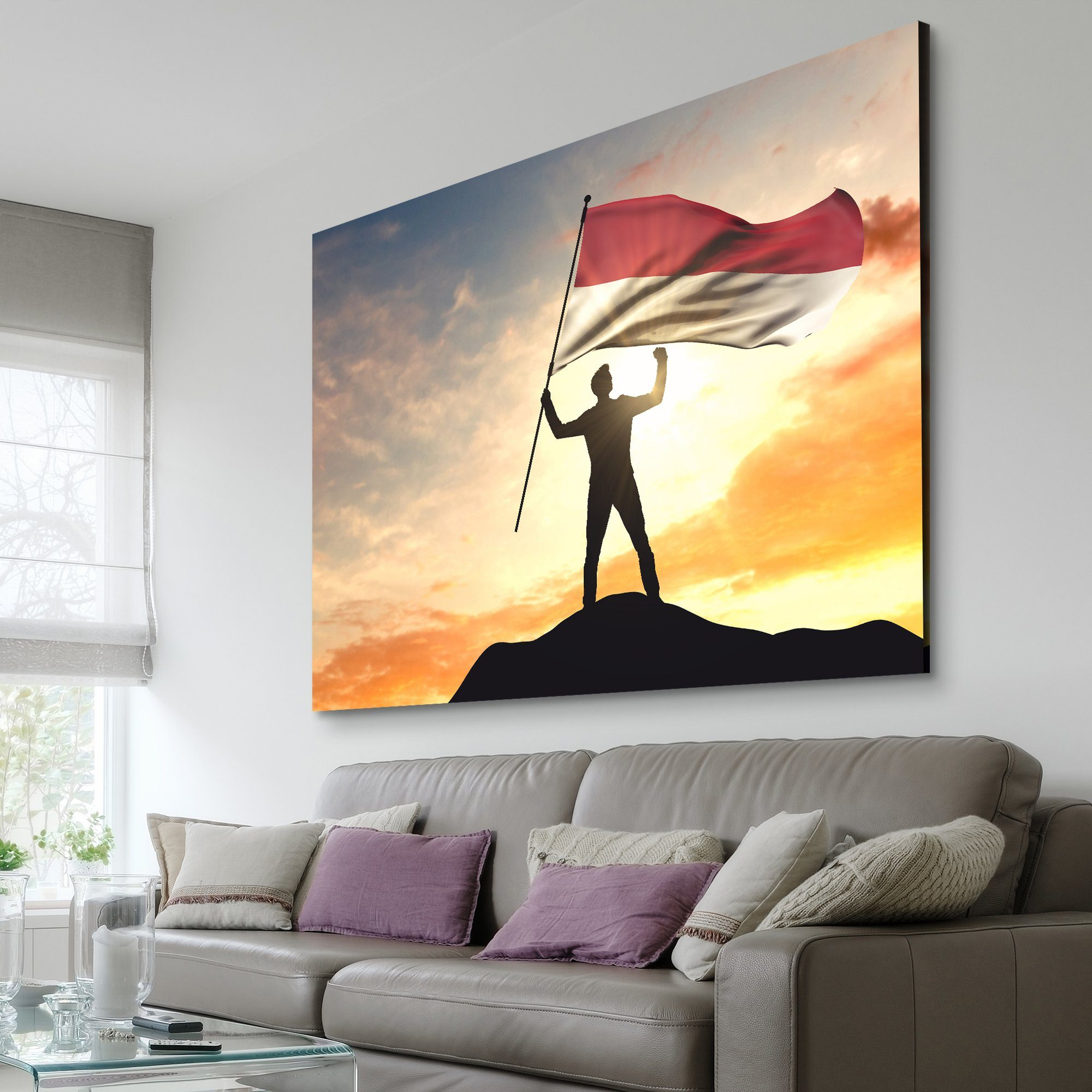 Indonesia Flag home wall art