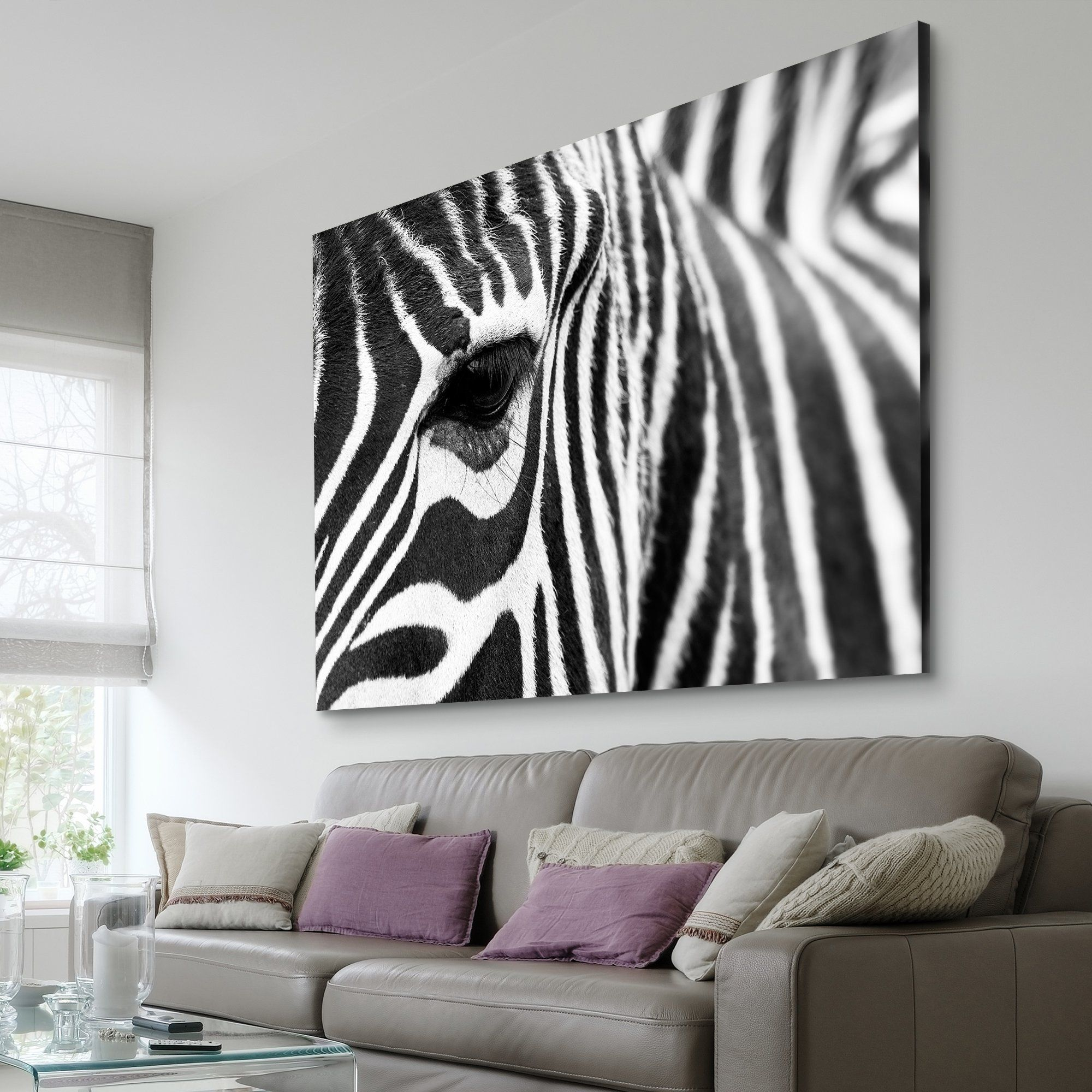 zebra stripes wall art decoration