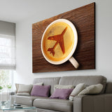 airplane coffee living room wall art