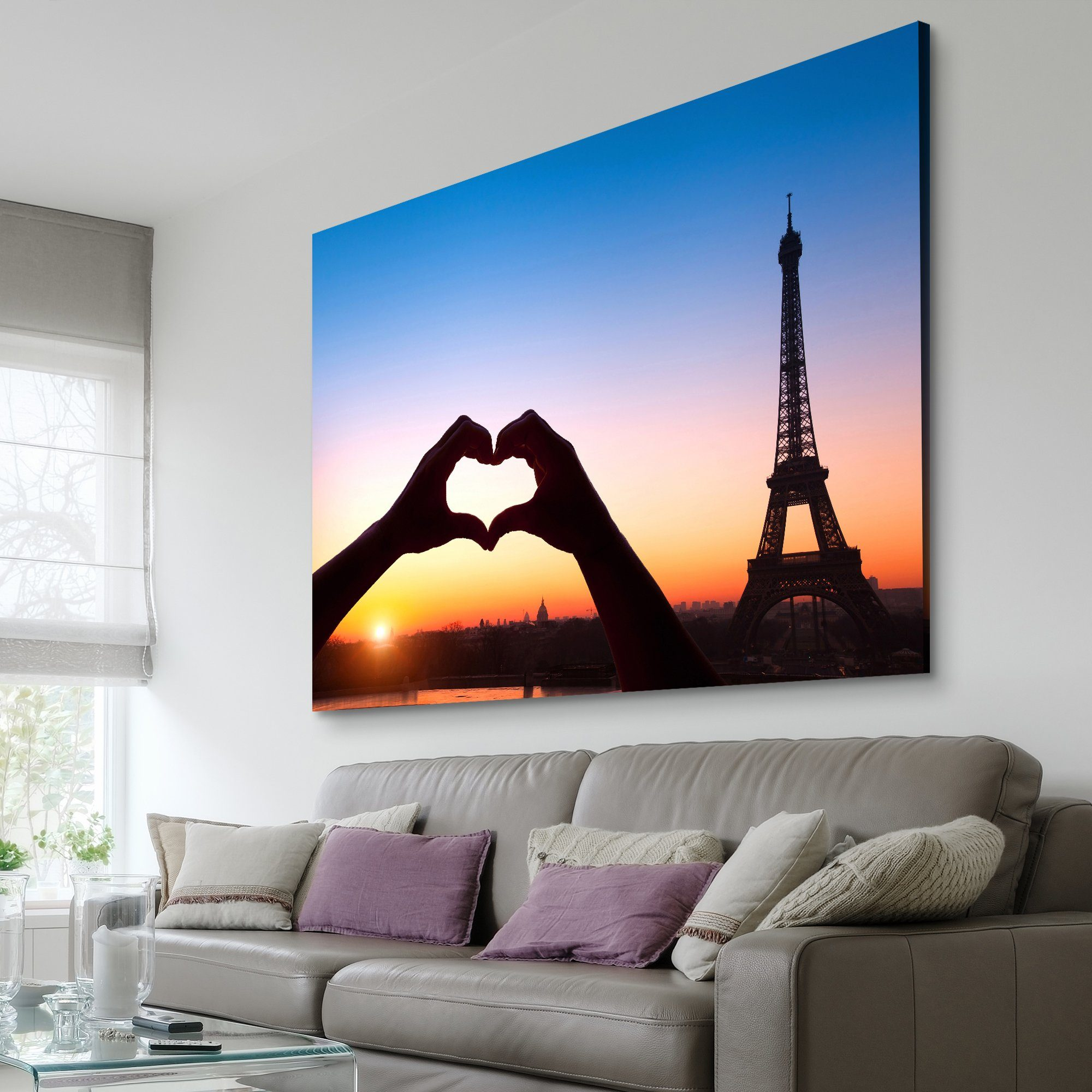 Love in Paris living room wall art