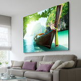 summer boat wall art