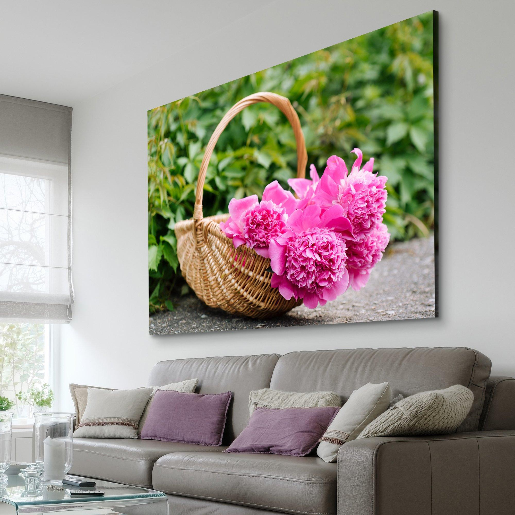 flower basket wall art