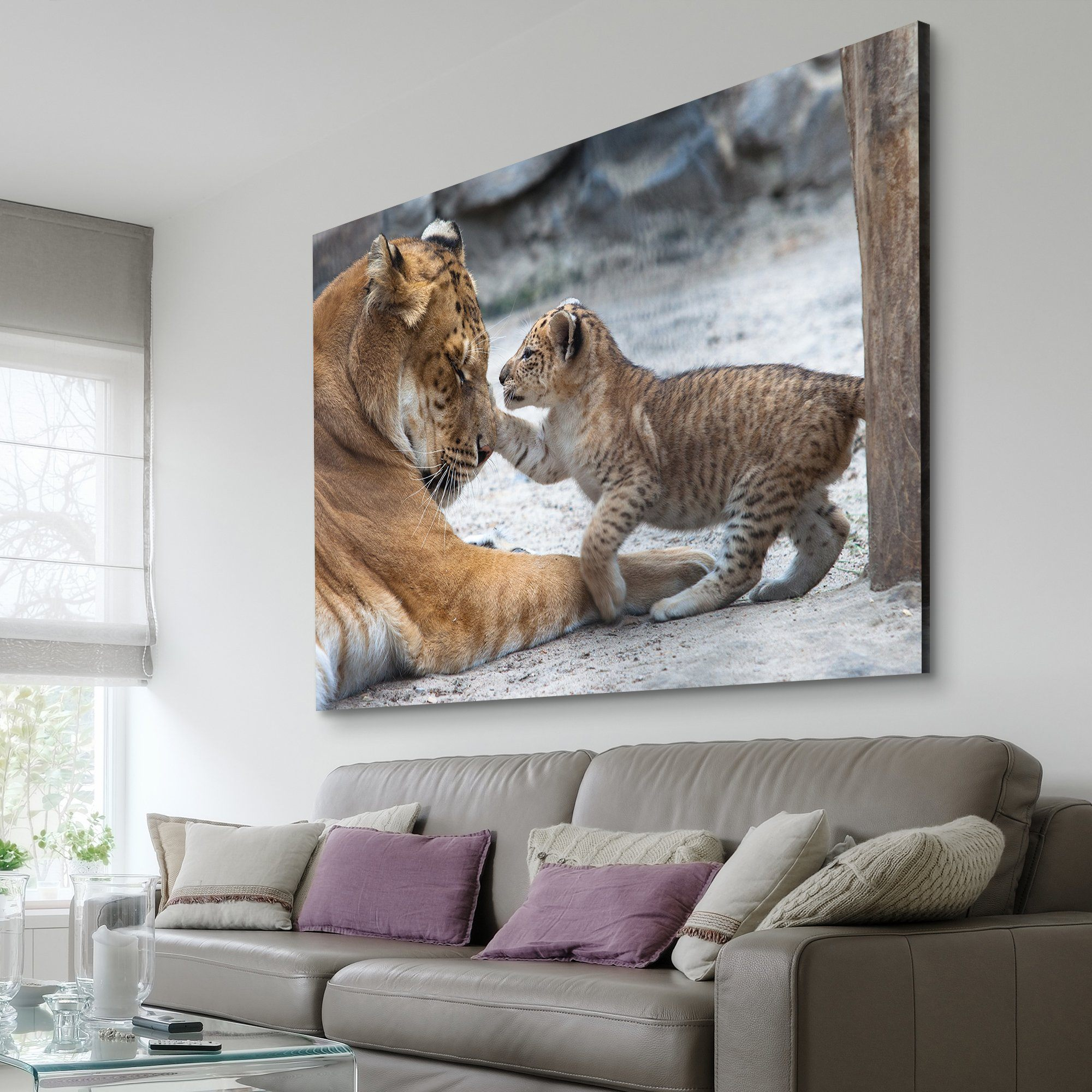Lion and Cub living room wall art