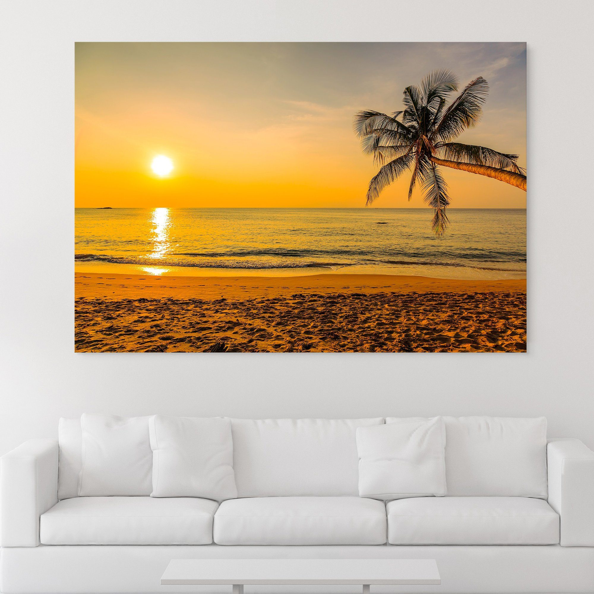 Sunset by the Beach wall art