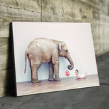 Baby and Elephant art