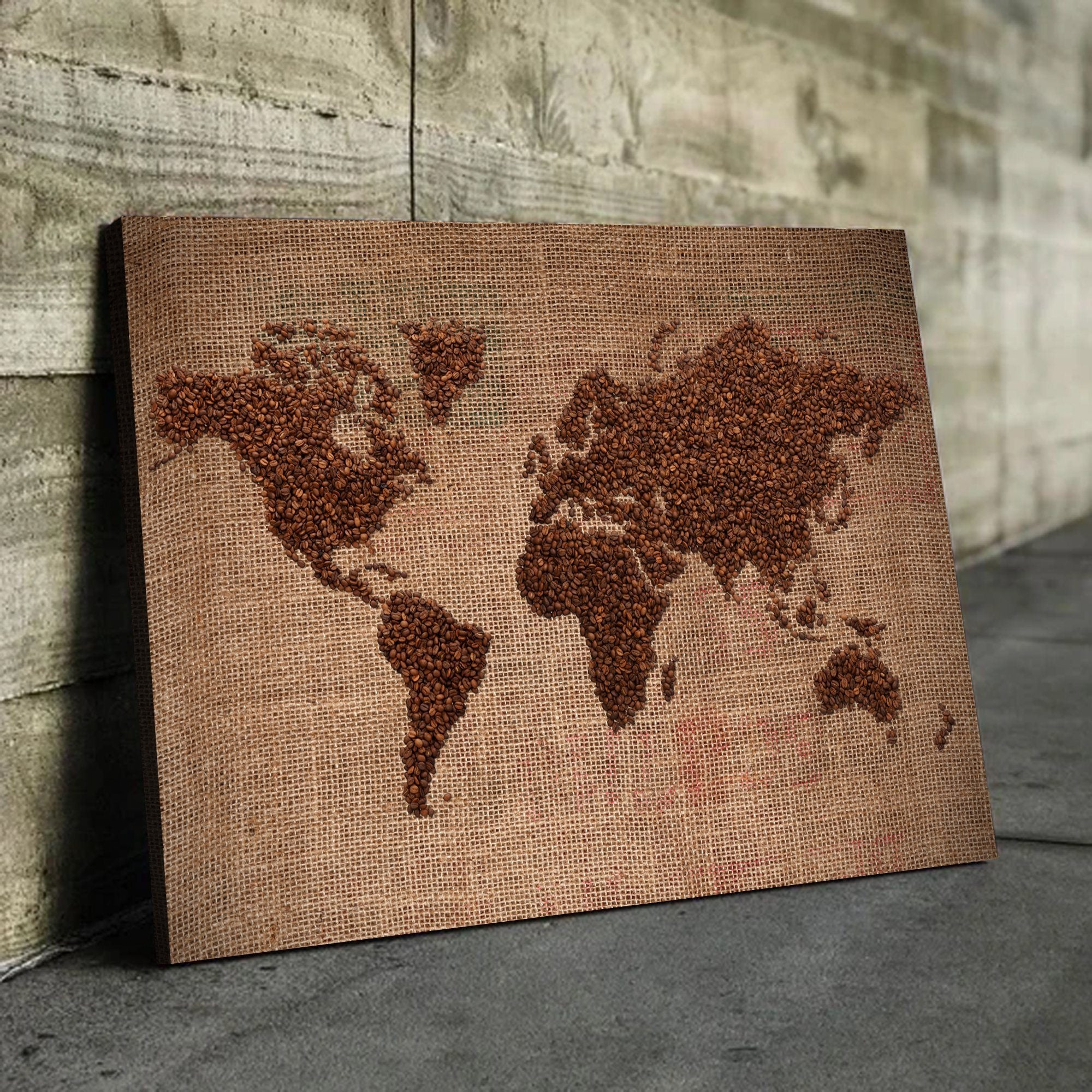 Coffee world map art