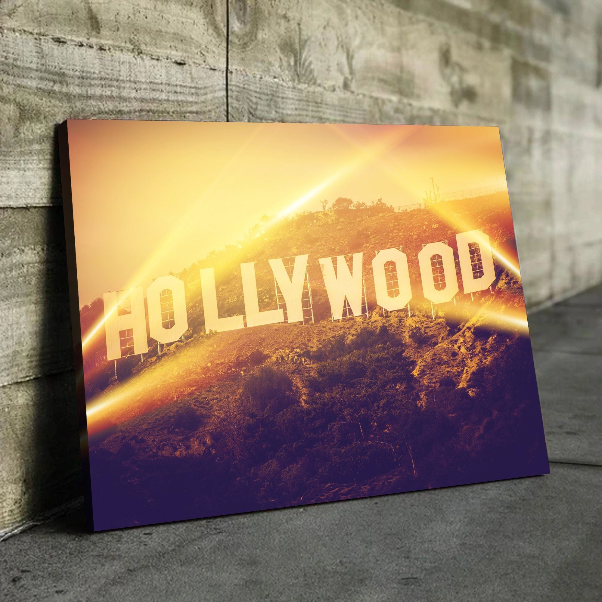 Hollywood living room wall art