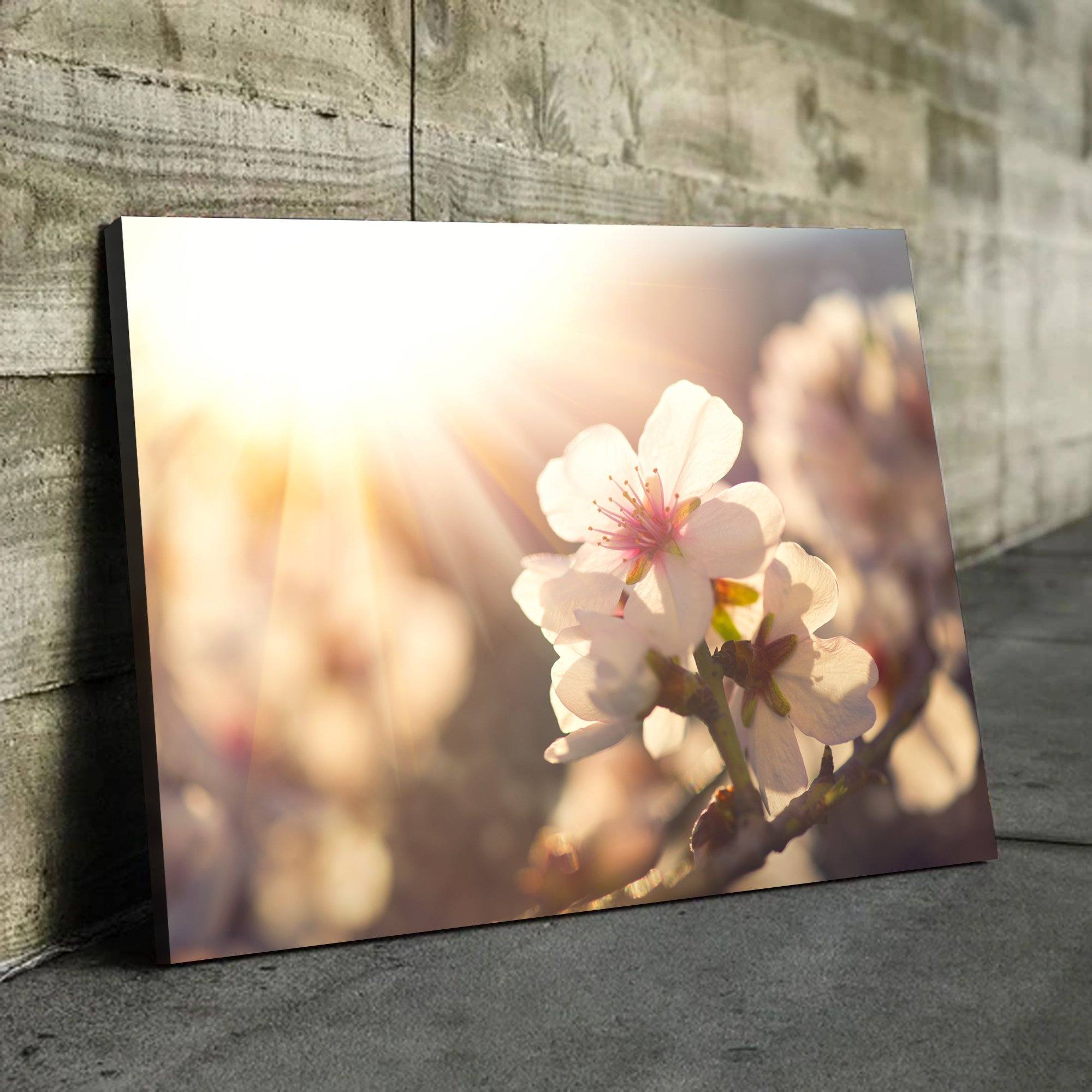Spring Blossom living room wall art black frame